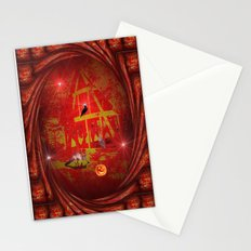 Animals All Hallows Night Party. Stationery Cards