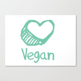 Vegan from the heart Canvas Print