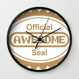 Official Awesome Seal Wall Clock