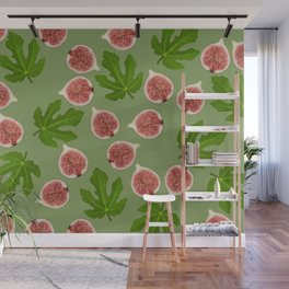 Figs and Fig Leaves green Wall Mural