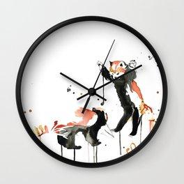 Red Pandas. Wall Clock