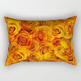 Grenadier Tangerine Roses Rectangular Pillow