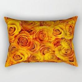 Grenadier Tangerine Roses Rectangular Pillow