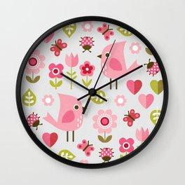 JARDIN DE L'AMOUR Wall Clock