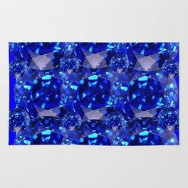 BLUE SAPPHIRES GEM BIRTHSTONE Rug