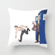 tardis-sick Throw Pillow