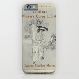 Vintage Posters 099 Letitia nursery corps U S A iPhone Case