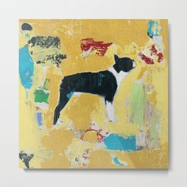 Boston Terrier Painting Art Metal Print