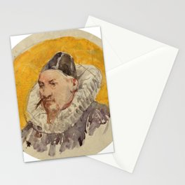 ANKER, ALBERT (1831 Ins 1910)   Portrait of a man with ruff. Stationery Cards