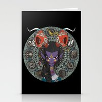 zodiac Stationery Cards featuring Zodiac : Capricorn by Det Tidkun