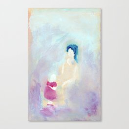 Mom and daughter. Canvas Print