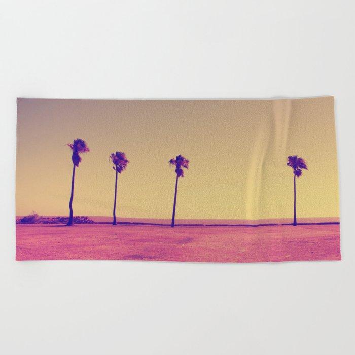 Four Palms In Paradise Beach Towel