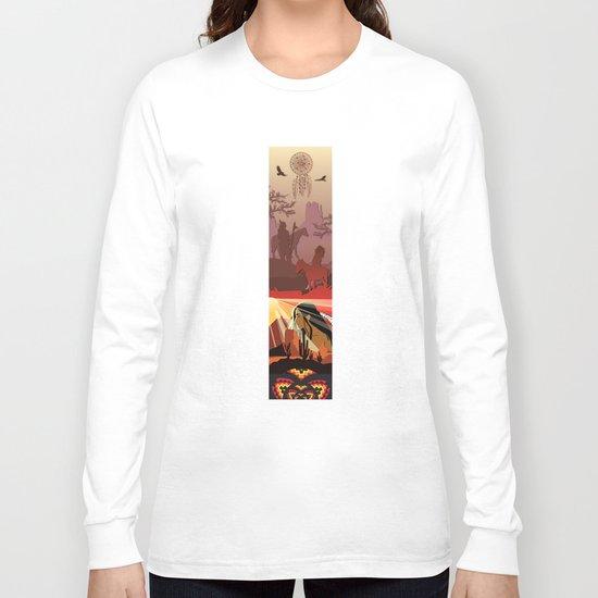 An American Native Story Long Sleeve T-shirt