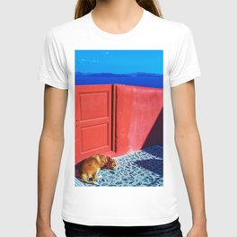 relaxing dog T-shirt
