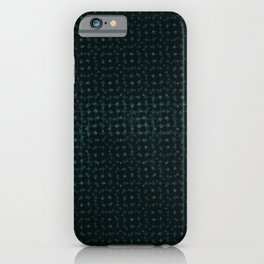 Blue pattern on a black background. iPhone Case