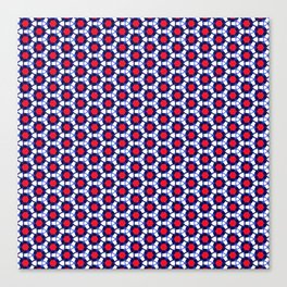 Red & Blue Pattern Canvas Print