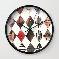 diamonds Wall Clocks featuring DIAMONDS by Brandon Neher
