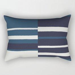 painted broken stripe-blue Rectangular Pillow