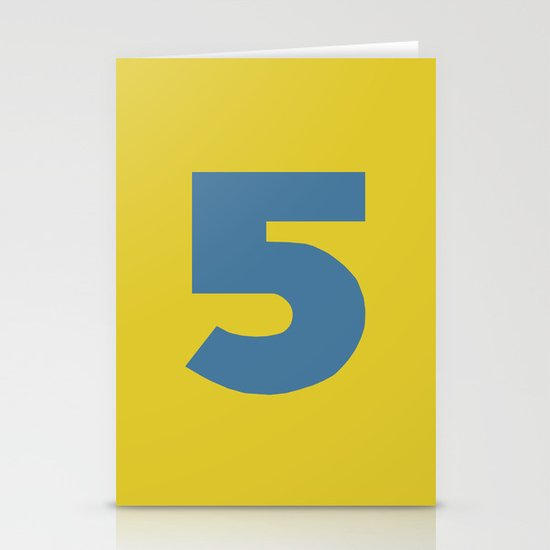 Number 5 Stationery Cards