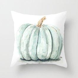 Blue Pumpkin Throw Pillow