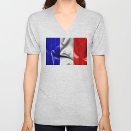 France Flag Unisex V-Neck