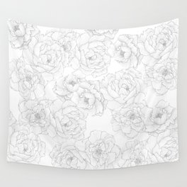 Peony Flower Pattern Wall Tapestry