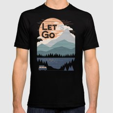 Let's Go Mens Fitted Tee LARGE Black