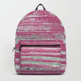 Rustic wood in pink Backpack