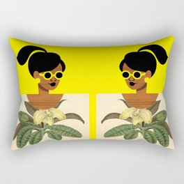Ponytail Girl with Nature Shirt Rectangular Pillow