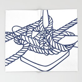 Knotical (WHITE) Throw Blanket