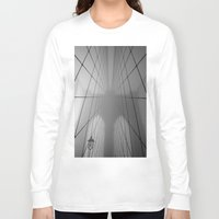 brooklyn bridge Long Sleeve T-shirts featuring Brooklyn Bridge by Gold Street Photography