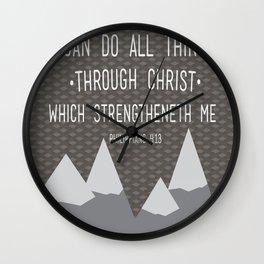 I CAN // Philippians 4:13 Wall Clock