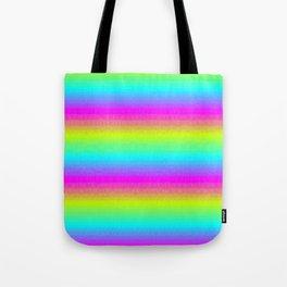 Neon Stripes Tote Bag
