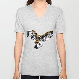 Falcon in Hand Flying  Bird Flying Pet Wings Gift Unisex V-Neck