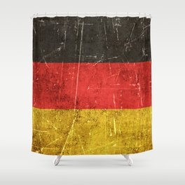 Vintage Aged and Scratched German Flag Shower Curtain