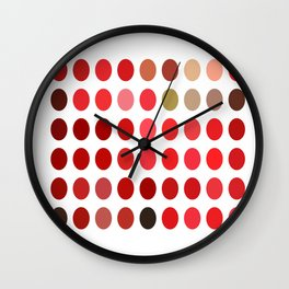 Mottled Red Poinsettia 1 Ephemeral Dots Wall Clock