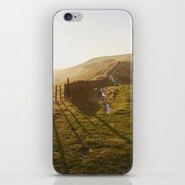 Rushup Edge at sunset. Derbyshire, UK. iPhone Skin
