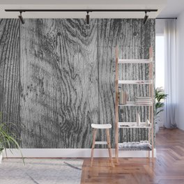 vintage wood texture background in black and white Wall Mural