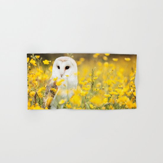 Australian Barn Owl (Tyto Alba) Hand & Bath Towel