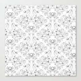 Skull Garden Demask Canvas Print