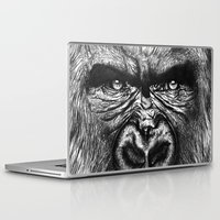 gorilla Laptop & iPad Skins featuring Gorilla  by Кaterina Кalinich