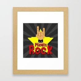 Pixels Rock Framed Art Print
