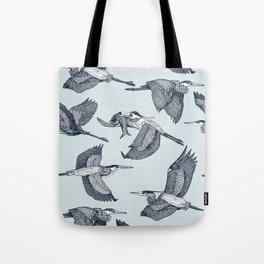 great blue herons sky blue Tote Bag
