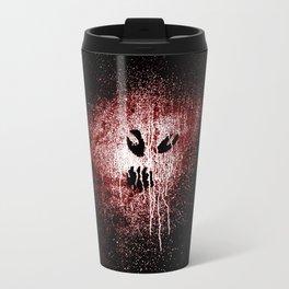 Space face Red white Travel Mug