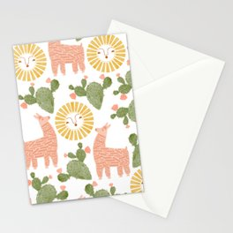 Llamas, Sunshine, & Cacti Oh My! Stationery Cards