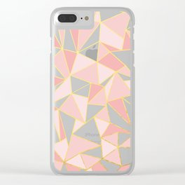 Ab Out Blush Gold 2 Clear iPhone Case
