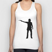 cowboy Tank Tops featuring cowboy by kevinz45