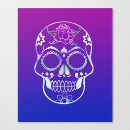 Love Skull (violette gradient) Canvas Print