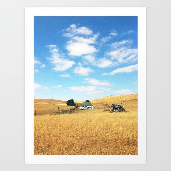 Barn. Art Print