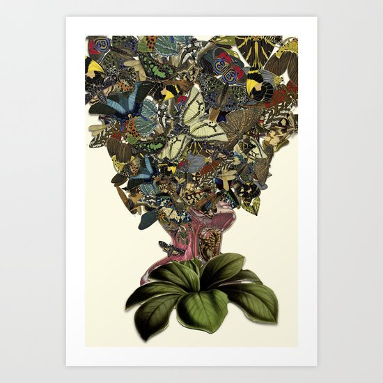 """""""uncertainty"""" anatomical collage art by bedelgeuse Art Print"""